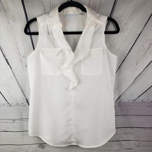 NEW YORK & COMPANY | white sleeveless top